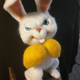 Мягкие игрушки - Боевой  кролик  Майк, 0