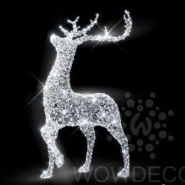 Новогодний декор и аксессуары - Световая фигура Олень (цвет на выбор), 0