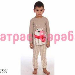 Домашняя одежда - ⭐Детская пижама «Пижама Медведик (бежевый)», 100% хлопок, 0