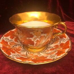 Кружки, блюдца и пары - Антикварная чайная пара Meissen., 0