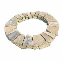 Очаги для костра - Кострище из камня песчаника Серого 3 кольца, 0