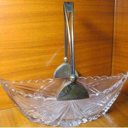 Тарелки - Конфетница; Ладья, хрусталь, серебро 875 с…, 0