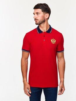 Футболки и майки - Мужские футболки - поло с гербом России красные…, 0