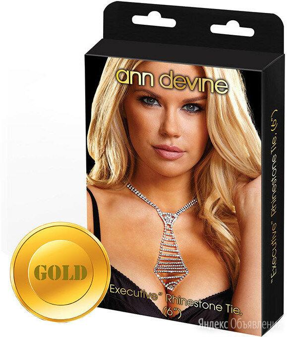 "Галстук из золотистых кристаллов ""EXECUTIVE"" Rhinestone Tie по цене 1910₽ - Галстуки и бабочки, фото 0"