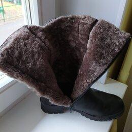 Сапоги - Удобные зимние сапоги / натуральная кожа и мех / женские, 0