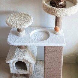 Лежаки, домики, спальные места - Домик для кошки, когтеточка, комплекс, 0