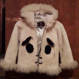 Пальто и плащи - Мутоновая шуба для девочки, 0