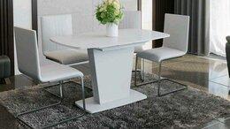 Столы и столики - Стол раздвижной со стеклом Честер Тип 1, 0