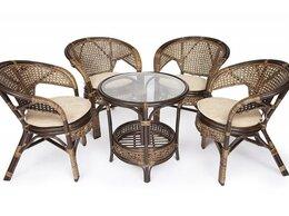 Плетеная мебель - Комплект для отдыха Pelangi (стол со стеклом + 4…, 0