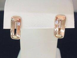 Серьги - Золотые серьги с Фианитами, Женские - проба 585, 0