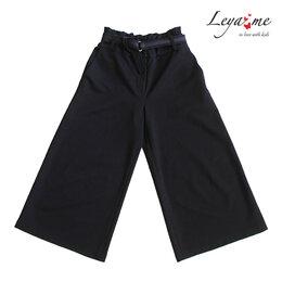 Капри и бриджи - Синие школьные брюки-кюлоты для девочки, с…, 0