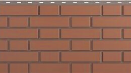 Фасадные панели - Панель Кирпич Клинкерный, Красный, 1220х440мм, 0