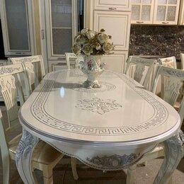 Столы и столики - Стол раздвижной Версаче серебро, 0