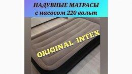 Кровати - Надувная кровать матрас Intex Greta двуспальный…, 0