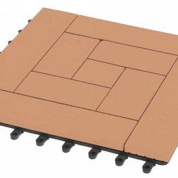 Паркет - Садовый паркет Люкс 10 Grinder / Гриндер ДПК, 300x300 мм, цвет песчаник, упаковк, 0