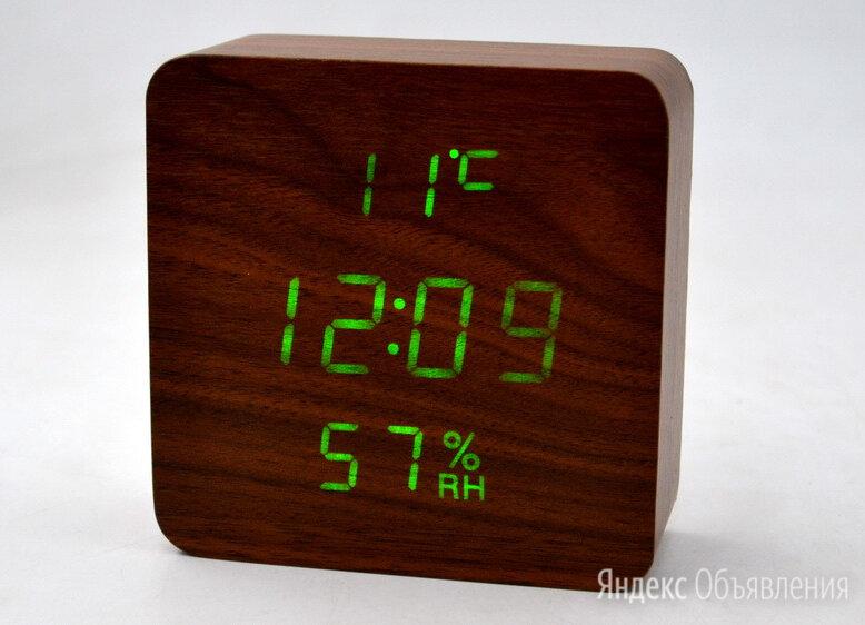 """""""Деревянные часы"""" электронные VST-872-4 по цене 1150₽ - Часы настольные и каминные, фото 0"""