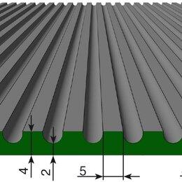 Садовые дорожки и покрытия - Резиновое покрытие Стандарт средний рубчик 4х1250 мм черный, 0