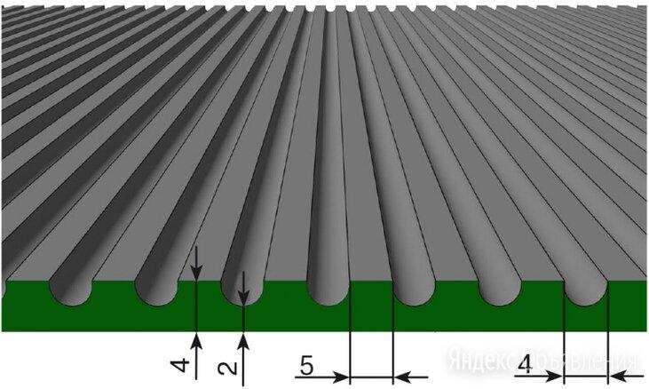 Резиновое покрытие Стандарт средний рубчик 4х1250 мм черный по цене 1060₽ - Кровля и водосток, фото 0