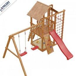 Игровые и спортивные комплексы и горки - Детская деревянная игровая площадка, 0