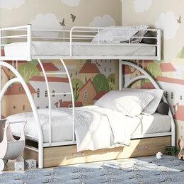 Кровати - Металлическая двухъярусная кровать Виньола-2яя, 0