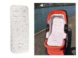 Аксессуары для колясок и автокресел - Новый летний хлопковый матрасик (белый с розовым), 0