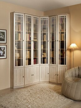 Шкафы, стенки, гарнитуры - Библиотека Sherlock (Шерлок) Сонома. Компоновка 3, 0