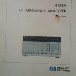 Техническая литература - документация на измеритель импеданса HP 4192a, 0