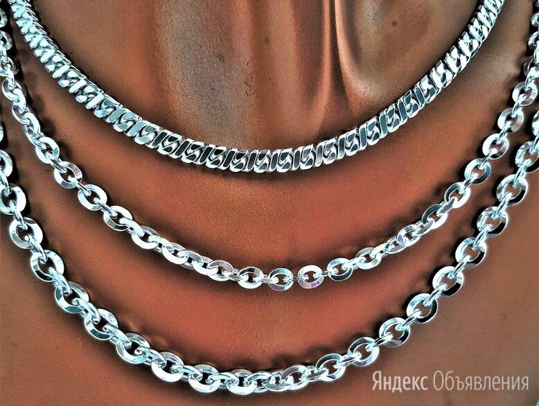Цепи серебро 65 см, родированные по цене 2980₽ - Цепи, фото 0
