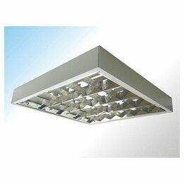 Люстры и потолочные светильники - Светильник ЛПО LightLux ЛПО 418 ECP накладной ЭПРА, 620х620, зеркальный растр, 0