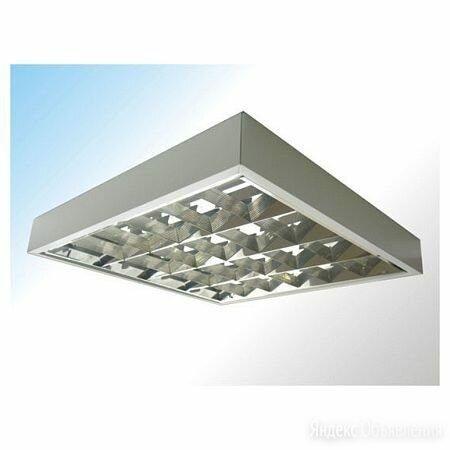Светильник ЛПО LightLux ЛПО 418 ECP накладной ЭПРА, 620х620, зеркальный растр по цене 810₽ - Люстры и потолочные светильники, фото 0