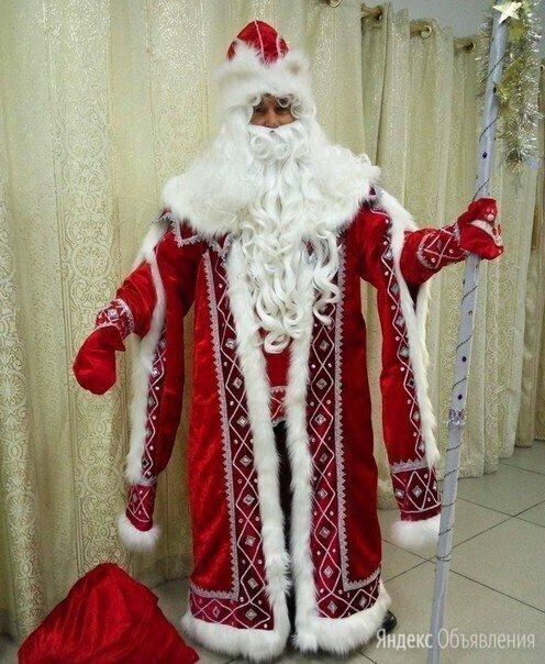 Костюм Деда Мороза Кремлевский красный по цене 19990₽ - Карнавальные и театральные костюмы, фото 0