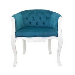 Кресла - Кресло с мягкими подлокотниками голубое Kandy от…, 0