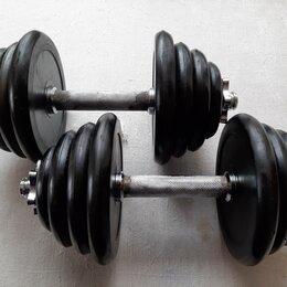 Гантели - Гантели 10 кг обрезиненные, 0
