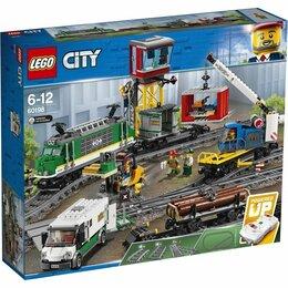 Конструкторы - Lego city 60198 товарный поезд, 0