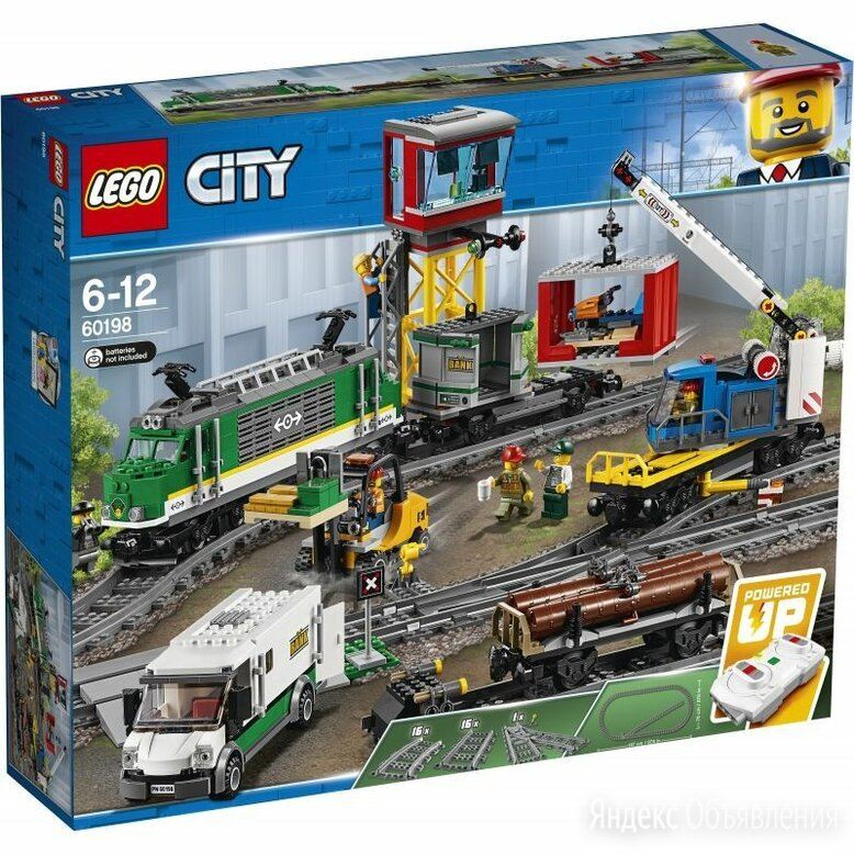 Lego city 60198 товарный поезд по цене 7000₽ - Конструкторы, фото 0