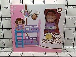 Куклы и пупсы - Пупс с кроваткой, 0