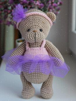 Мягкие игрушки - Вязаный мишка Тедди, 0