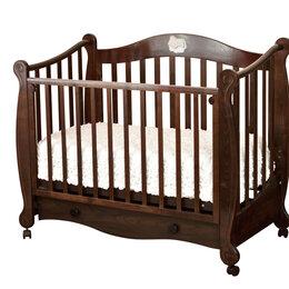 Колыбели и люльки - Детская кровать с ящиком 60х120 см шоколад…, 0