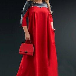 Платья - Длинное платье свободного кроя Размер 56-60, 0
