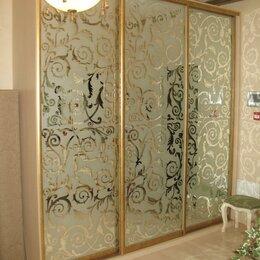 Шкафы, стенки, гарнитуры - Раздвижные двери-купе. Зеркало с пескоструйным рисунком, 0