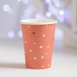 Бокалы и стаканы - Стаканы Звездочки, персиковый, 6шт, 0