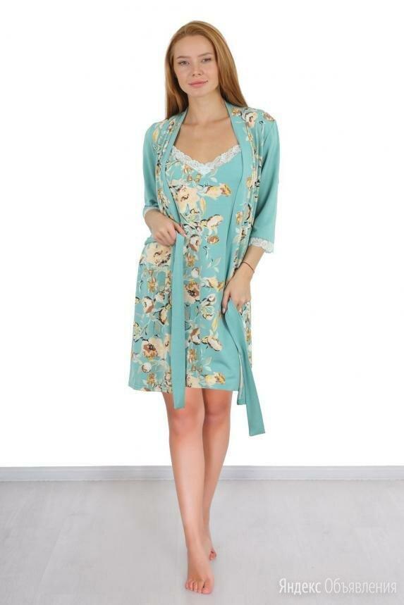 комплект \халат+сорочка\ новый  по цене 2500₽ - Домашняя одежда, фото 0