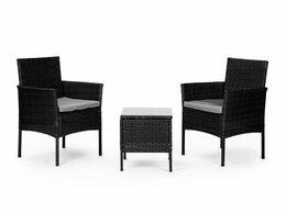 Комплекты садовой мебели - Садовая мебель, набор из 2x кресел и стол, 0