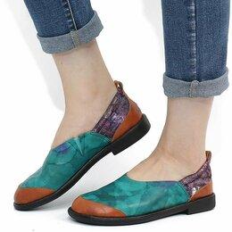 Туфли - Мягкие лоферы из натуральной кожи с прошивкой, 0