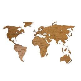 Картины, постеры, гобелены, панно - Деревянная карта мира 150х80 см Countries Rus с…, 0