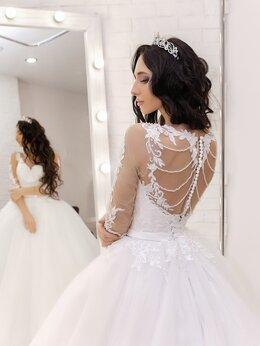 Платья - Пышное классическое свадебное платье с шикарной…, 0