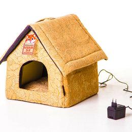 Лежаки, домики, спальные места - Лежанка с подогревом для кошек и собак Будка желт, 0