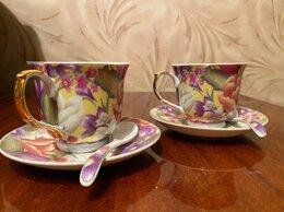 Кружки, блюдца и пары - Фарфоровая чайная пара, 0
