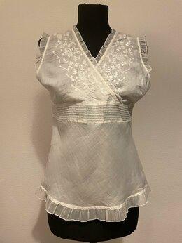 Блузки и кофточки - Женская белая блузка, 0