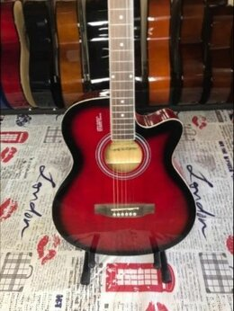 Акустические и классические гитары - Акустическая гитара с анкером Красная Новая, 0